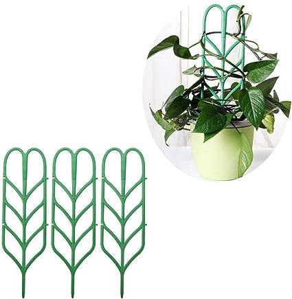 WLPARTY 6 unids Flor de plástico Marco de ratán Forma de Hoja ...