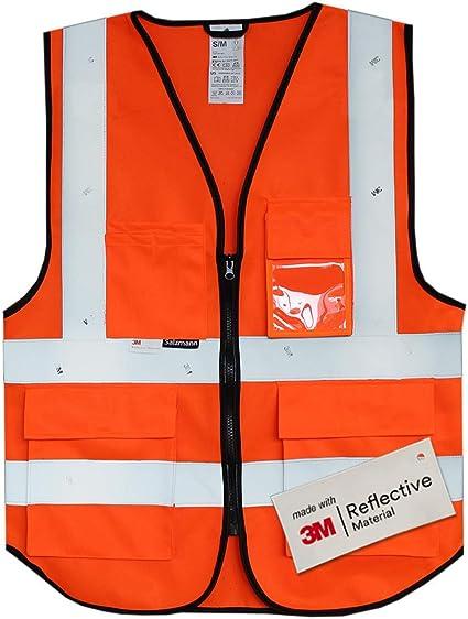 Hi Viz Gilet de sécurité gilet veste avec poches nouveau Haute Visibilité T Shirt Lot