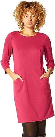 Roman Originals Vestido de cambio de bolsillo relajado para mujer