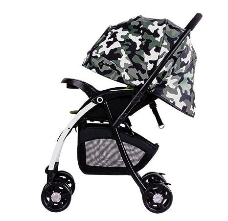 Cochecito de jardín alto - Carro amortiguador para niños, Puede sentarse y tumbarse Coche Baby