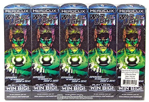 - Heroclix War of Light Wave 1 Sealed Booster Brick (10 boosters)