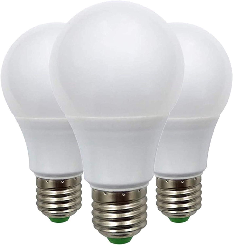E27 Bombilla LED de Rosca Edison de 7W (60W), Bombilla de Globo A70 ES, 12V Bajo Voltaje, Ideal Para Iluminación Solar Fuera de la Rejilla, Barco, Caravana, luz Blanca Frío, 6000K, Pack de 3