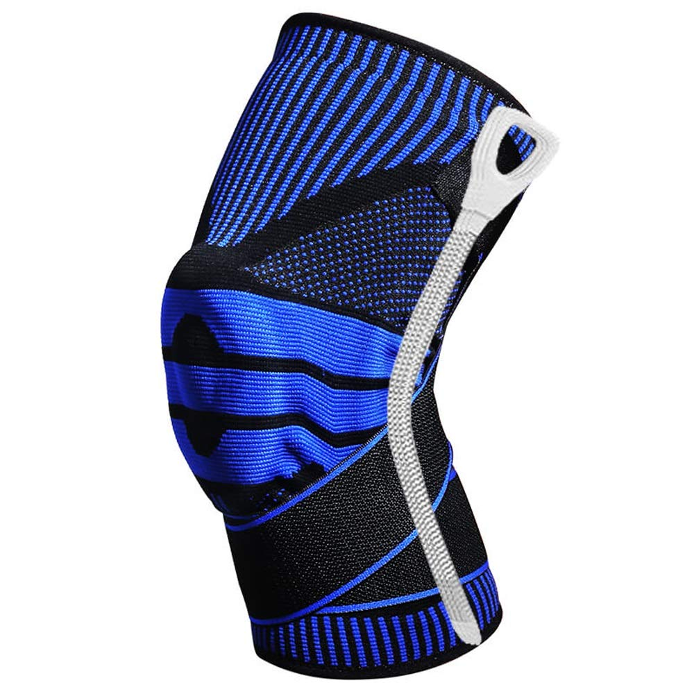 bluee Strong Support Knee Pads Sports Basketball Men's Meniscus Injury Professional Support Knee Predector Ladies Outdoor Running Mountaineering Fitness to Solve The Problem of Slip