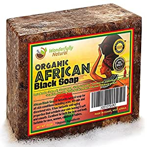 Organic African Black Soap | Natural Acne Treatment | 16 OZ