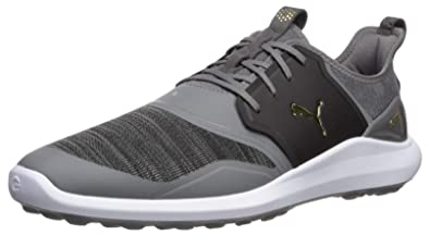 a498717cc9 Puma Golf Men's Ignite Nxt Lace Golf Shoe Quiet Shade Team Gold-Puma Black,