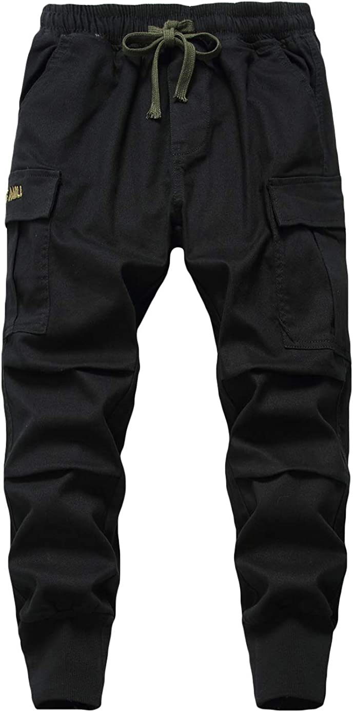 LAUSONS Kids Cargo Trousers Boys Casual Elastic Waist Pants