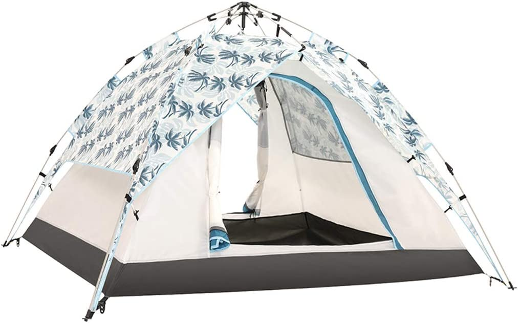 YILANJUN familietent, toren, campingtent, waterdicht, bescherming tegen muggen, grote ruimte voor 3-4 personen, 220 × 190 × 120 cm (geel/crèmekleurig/sterrenhemelkleur) off-white