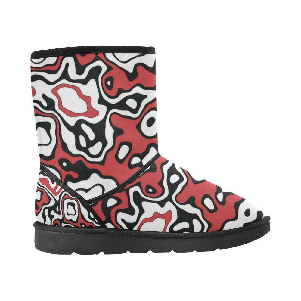 Artsadd Winter Boots Funky Camouflage Custom Womens Snow Boots M047