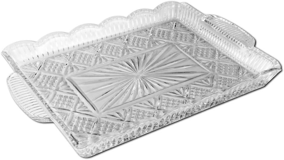 Godinger Dublin 14 by 11-Inch Crystal Rectangular Serving Tray
