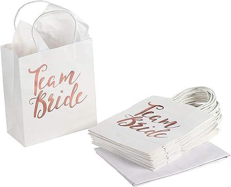 1 sac de mari/ée pour f/ête de mari/ée avec cordon de serrage en coton pour f/ête de mari/ée AerWo Lot de 10 sacs cadeaux pour demoiselle dhonneur