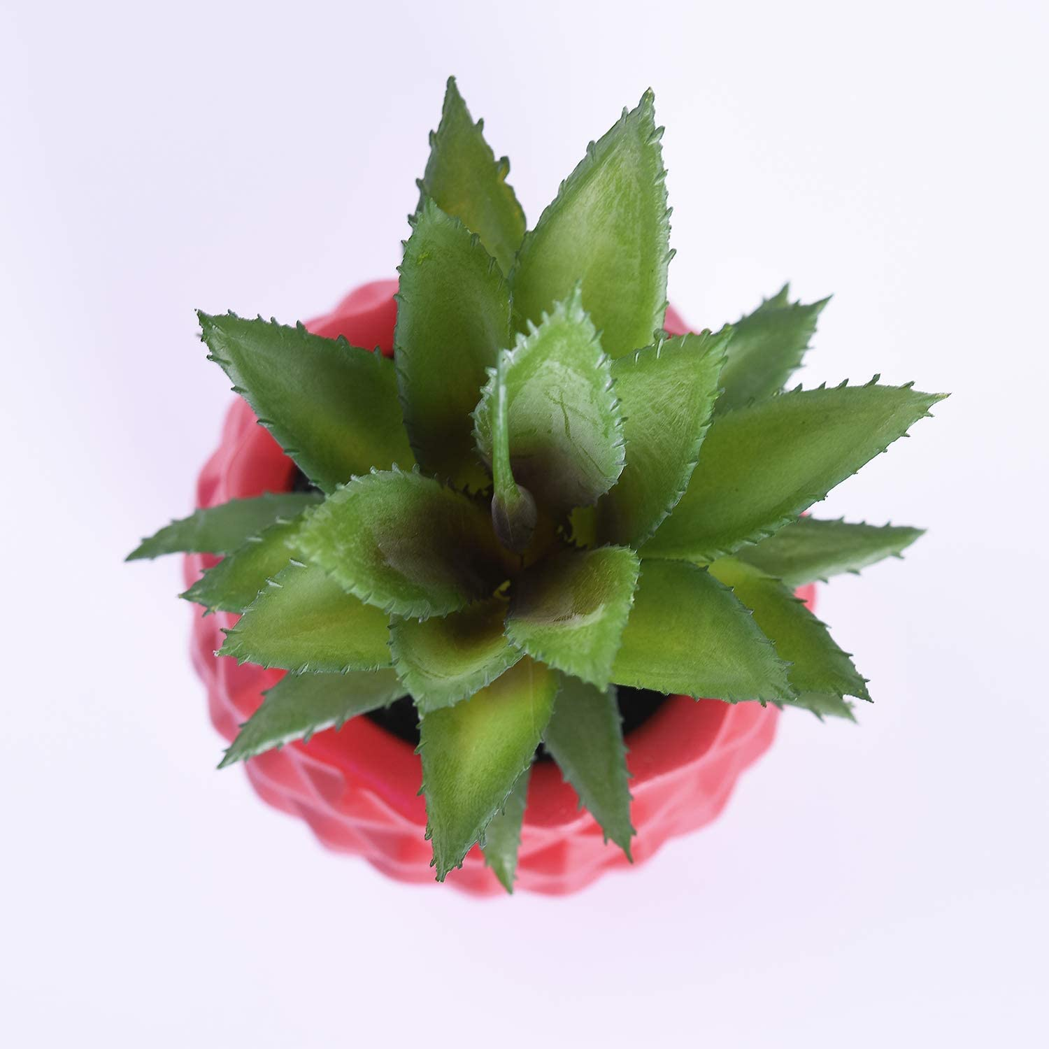 Lvydec Potted Artificial Succulent Decoration Gold Fake Pineapple Plant for Home Office Tabletop Decoration