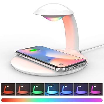 Aursen Cargador Inalámbrico Rapido,10W Carga Rápida para Samsung S8/S8 +/S9 / S9 + / Huawei Mate 20 Pro,7.5W Carga Rápida para iPhone 8/8 + / ...