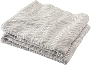 product image for Brahms/Mount Penobscot Blanket | Cotton - Gray Heather - Twin Size