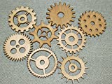 Lot 1 Includes 8 3'' Custom Wood Wooden Gears Gear COG Steampunk Wall Art