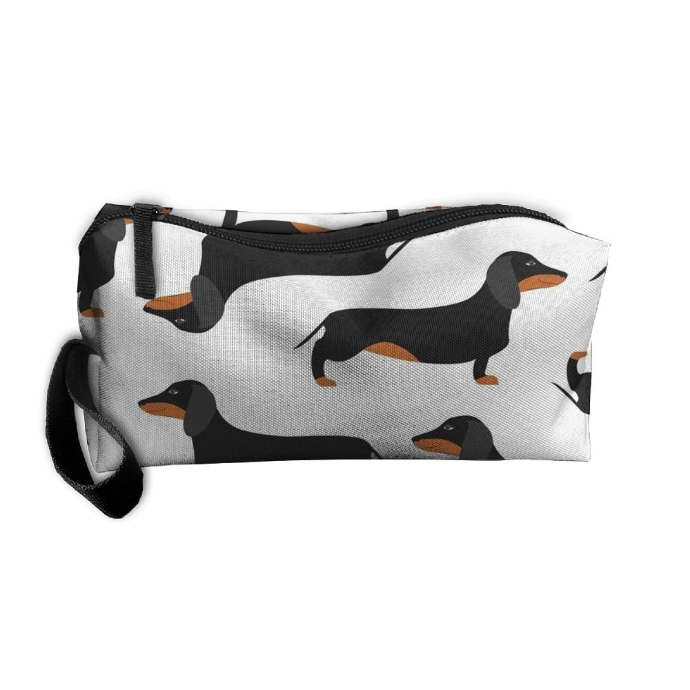 Styleforyou Travel Makeup WHITE Dachshund Dog Cosmetic Pouch Makeup Travel Bag Purse Holiday Gift For Women Or Girls by Styleforyou (Image #1)