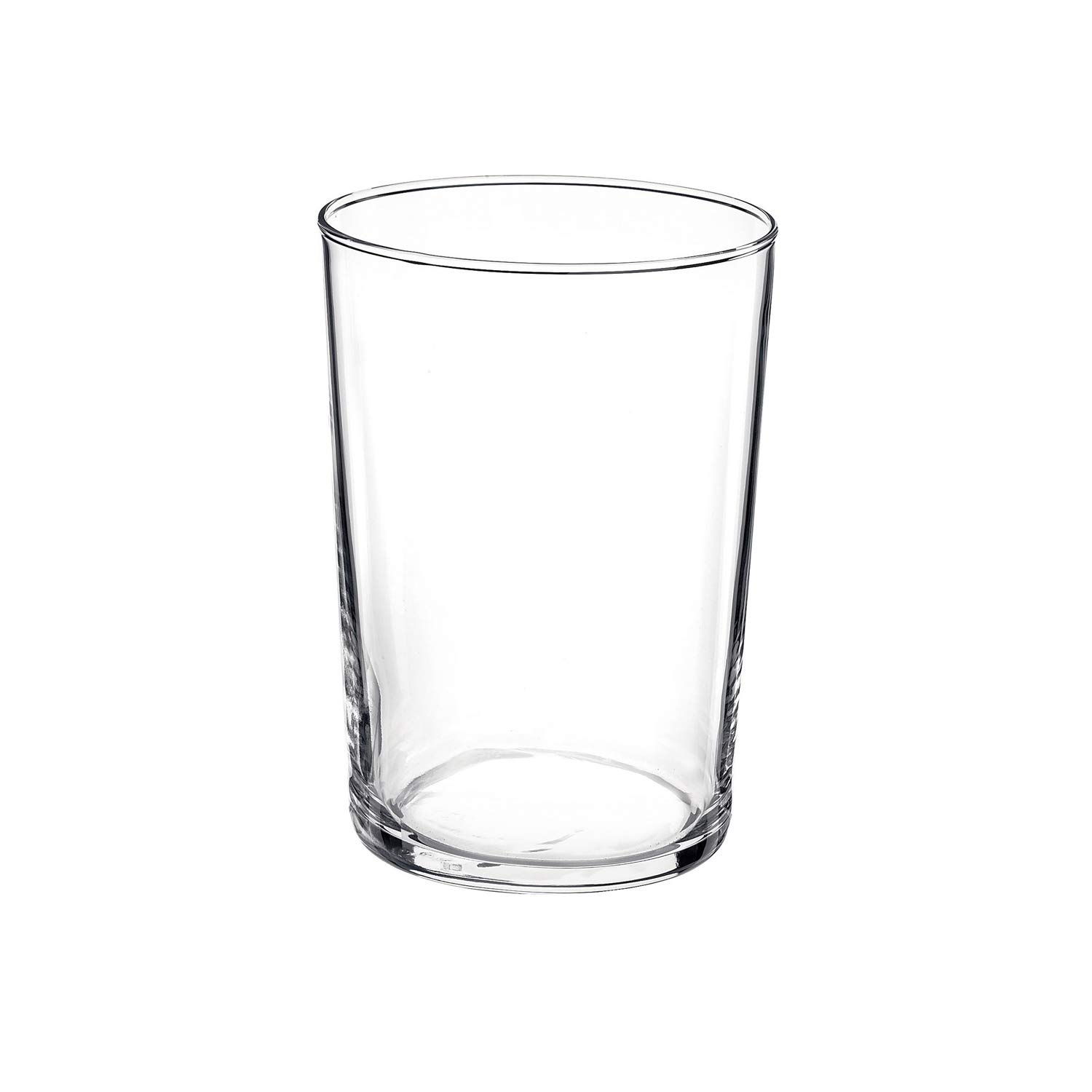 Bormioli Rocco Bodega Collection Glassware - Set Of 12 Maxi 17 Ounce Drinking Glasses For Water, Beverages & Cocktails - 17oz Clear Tempered Glass Tumblers by Bormioli Rocco