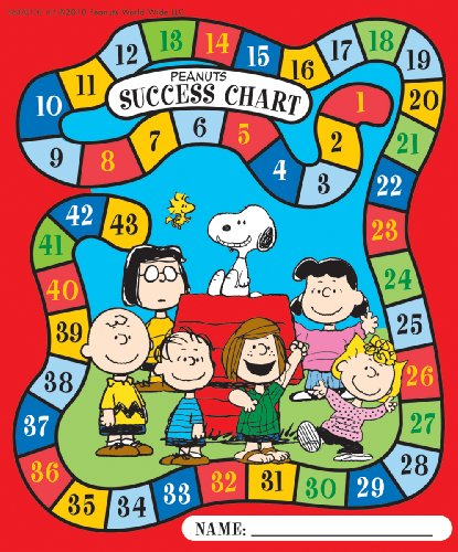 Eureka Peanuts Characters Mini Reward Charts with Stickers, Package of 36 Eureka Mini