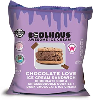 product image for Coolhaus Chocolate Love Ice Cream Sandwich with Chocolate Chip and Snickerdoodle Cookies, 5.8 oz (1 Ice Cream Sandwich) (Frozen)