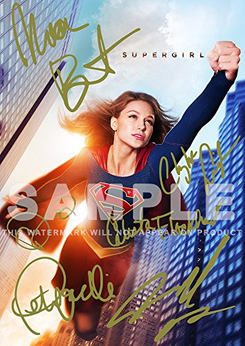 Large Supergirl Tv Show Print Melissa Benoist  Chyler Leigh  Calista Flockhart  Peter Facinelli  11 7  X 16 5