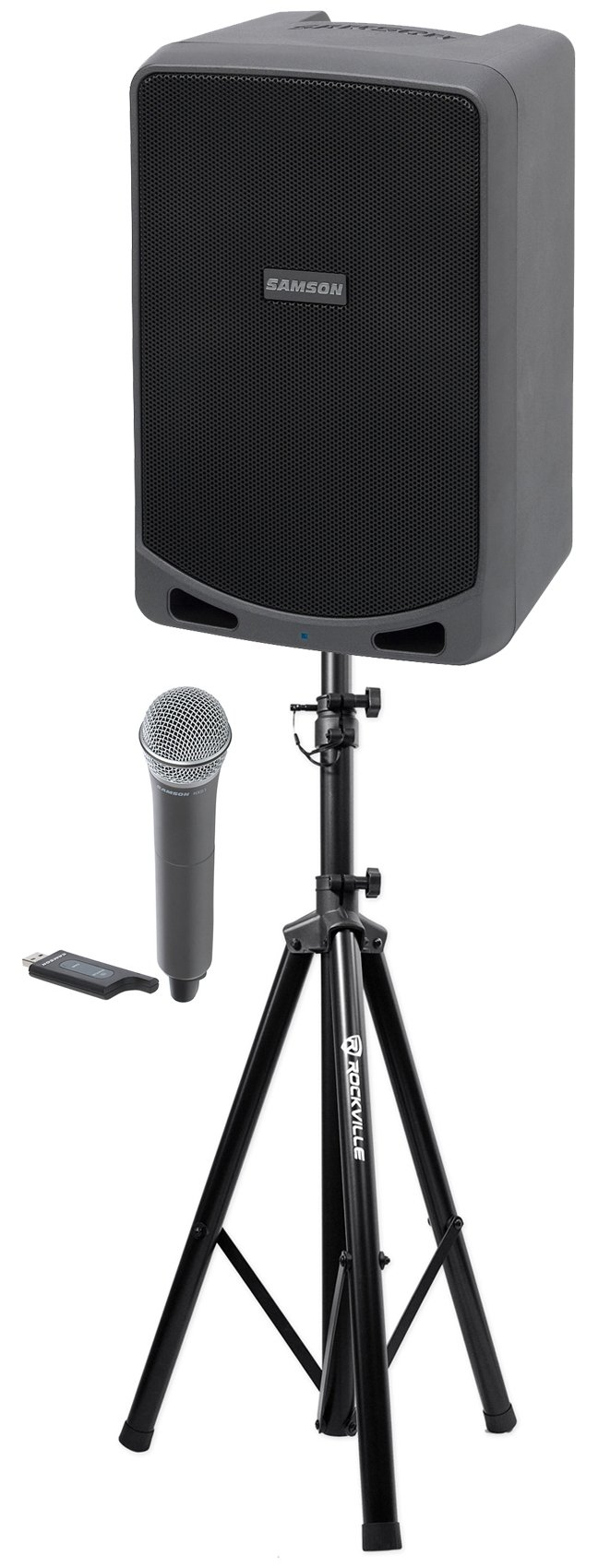 Samson Expedition XP106W 6'' Portable Rechargeable Active PA DJ Speaker+Mic+Stand by Samson Technologies