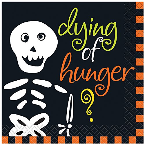 Dying Of Hunger Halloween Cocktail Napkins, (Halloween For Hunger)