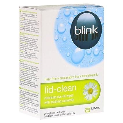 TRES PAQUETES de Blink Tapa De Limpieza 20 Sterile Toallitas
