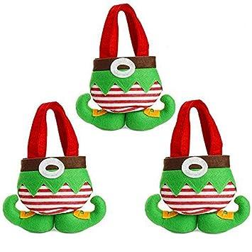 Elf Christmas Gift Bags.Christmas Gift Bags 3 Pcs Christmas Elf Foot Socks Candy Bags Christmas Gift Bags Elf Spirit Stocking