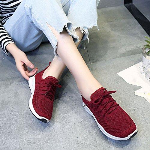 Solos Plana Transpirable de de Verano de Colores Cuatro Zapatos Inferior Moda Para Rojo Zapatos Nan Elegir mujer qz0XHwHxv