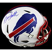 $719 » Bruce Smith Autographed/Signed Buffalo Bills Speed Authentic White Matte NFL Helmet