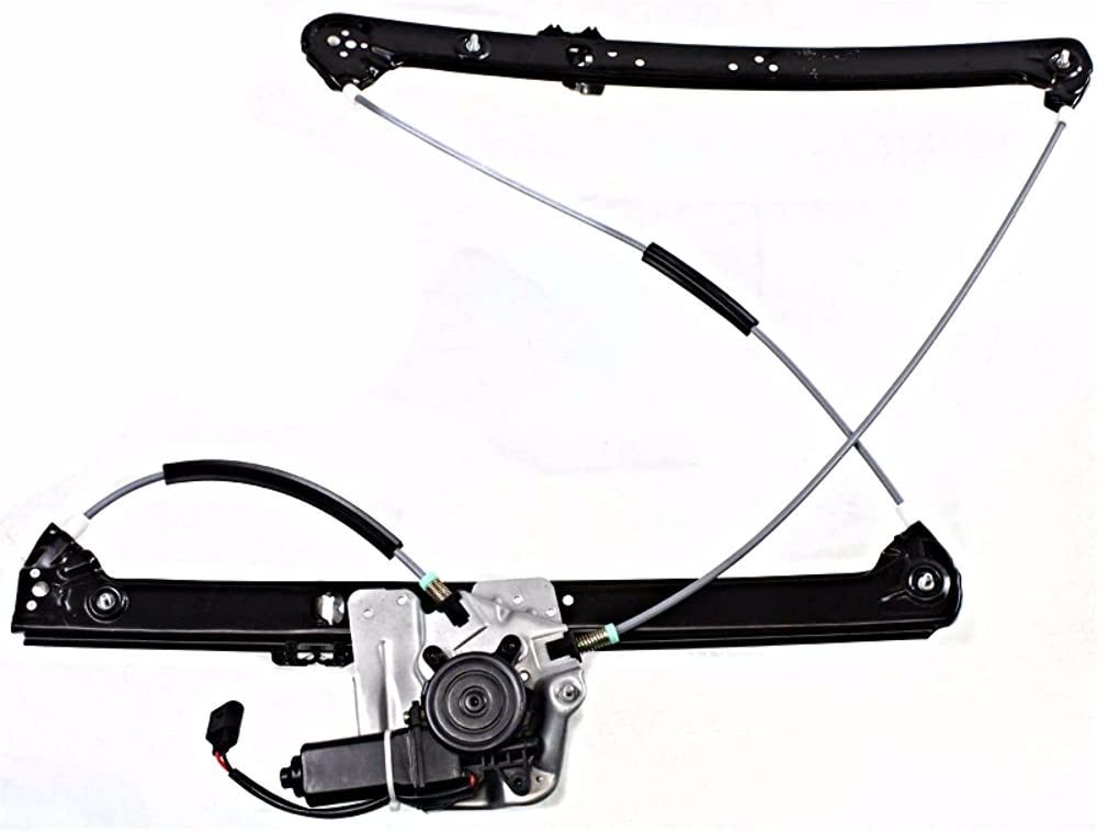 00-06 BMW X5 FRONT PASSENGER RIGHT WINDOW REGULATOR WITH MOTOR
