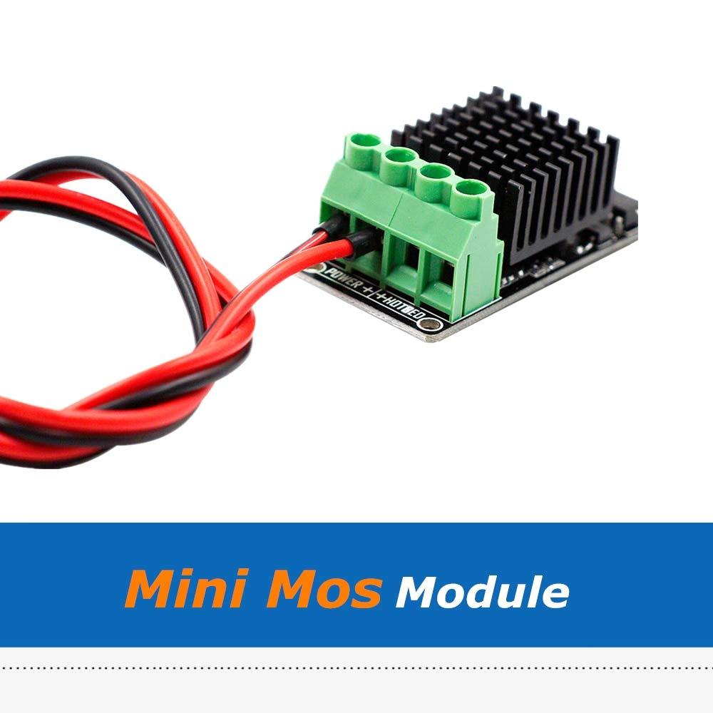 Zamtac 3D Printer Parts Hotbed Expansion Mini MOS Module 60cm/80cm/100cm 15A Power Supply Cable Size: 100cm