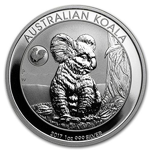 2017 AU Australia 1 oz Silver Koala BU (Rooster Privy) 1 OZ Brilliant ()