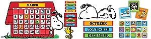 Eureka Peanuts and Snoopy Classroom Calendar for Teachers, 0.1'' x 18'' x 28'', 112pc