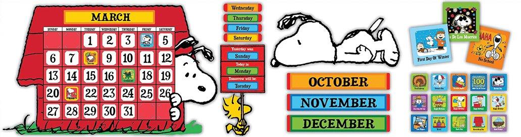 Eureka Peanuts Calendar Bulletin Board Sets (847152)