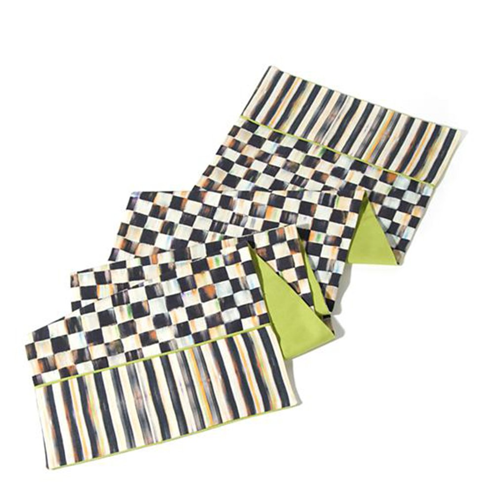 MacKenzie-Childs Courtly Check Table Runner 14'' x 72''