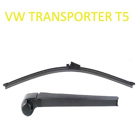 Juego de escobillas para limpiaparabrisas trasero VW TRANSPORTER T5 Aero con ranura para lavado