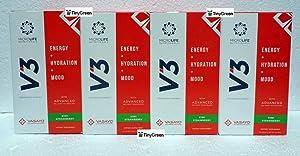 Microlife V3 Energy Hydration Mood Kiwi Strawberry Flavor Box (Pack of Four).