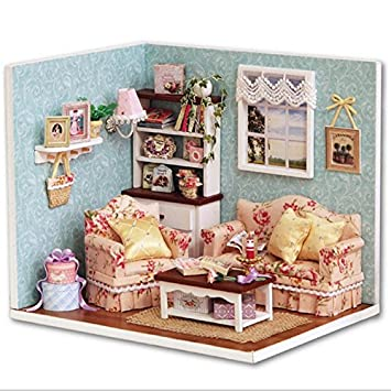 Amazon Com Build Dollhouse Furniture Cute 3d Diy Dollhouse Reunion