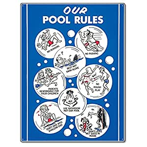 Poolmaster 41336 Our Pool Rules Animation W