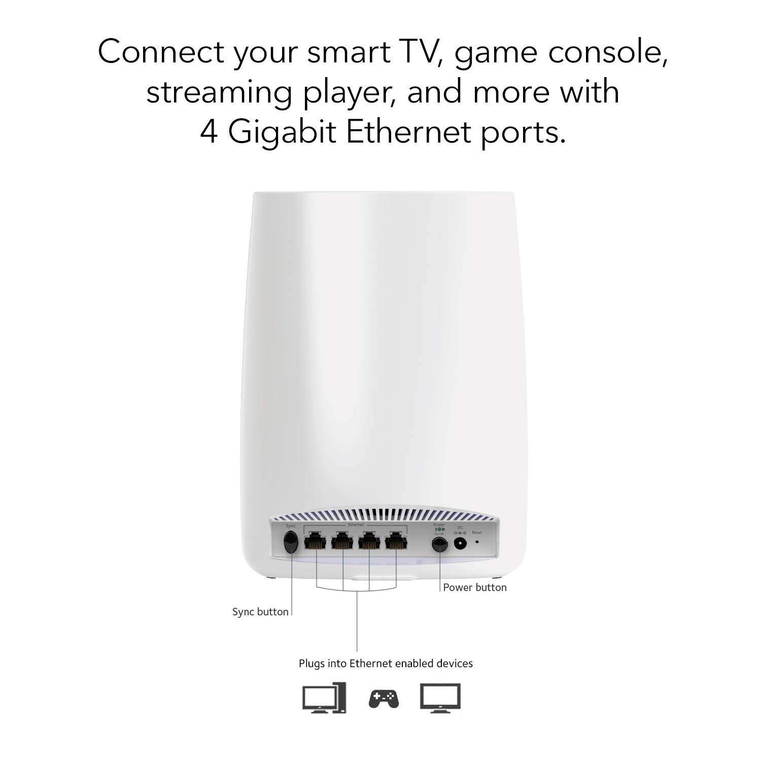 NETGEAR Orbi Ultra-Performance Whole Home Mesh WiFi Satellite Extender -  works with your Orbi Router to add 2,500 sq  feet at speeds up to 3 Gbps,
