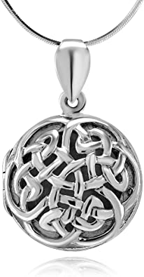 My ORIGINAL Charm Necklace or Earrings Chain Optional STERLING SILVER Tiny Celtic Trinity Love Knot