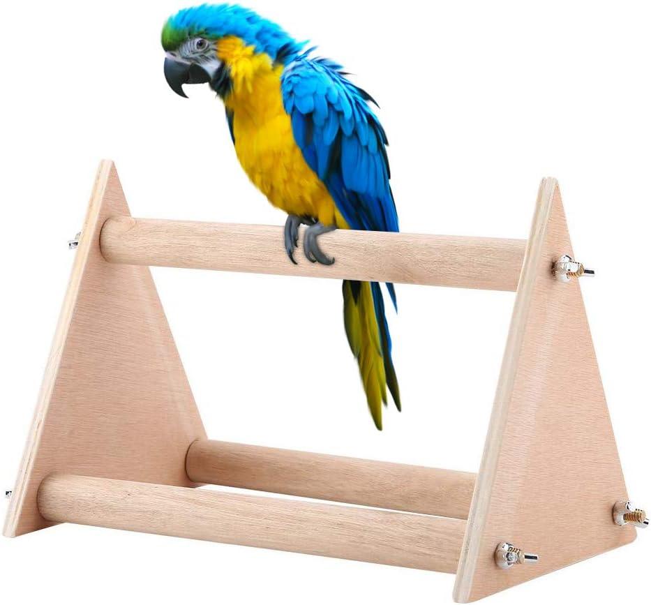 Soporte de Percha para pájaros Divertido portátil Loro de Madera Playstand Pájaro Patio de Juegos Jugar Gimnasio para Cockatiels Conures Grises africanos Periquitos Finch Love Birds