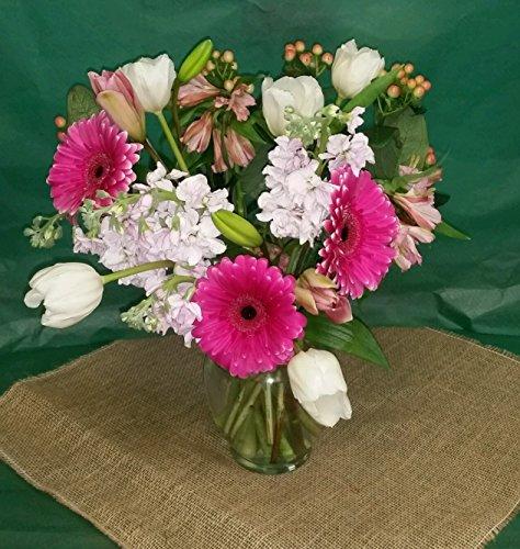Pick Flowers Pastel Pallette 20 flowers Gerbera, Tulips, Alstromeria Lily