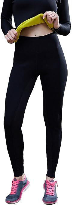 Amazon Com Bakerdani Para Mujer De Alta De Acoplamiento Lycra Pantalones Para La Quema De Grasas Y Cuerpo Dar Forma Sports Outdoors