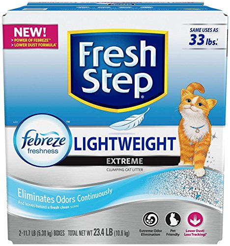 Fresh Step Lightweight Extreme, Scented Scoopable Cat Litter, 23.4 Pounds (Product May Vary)