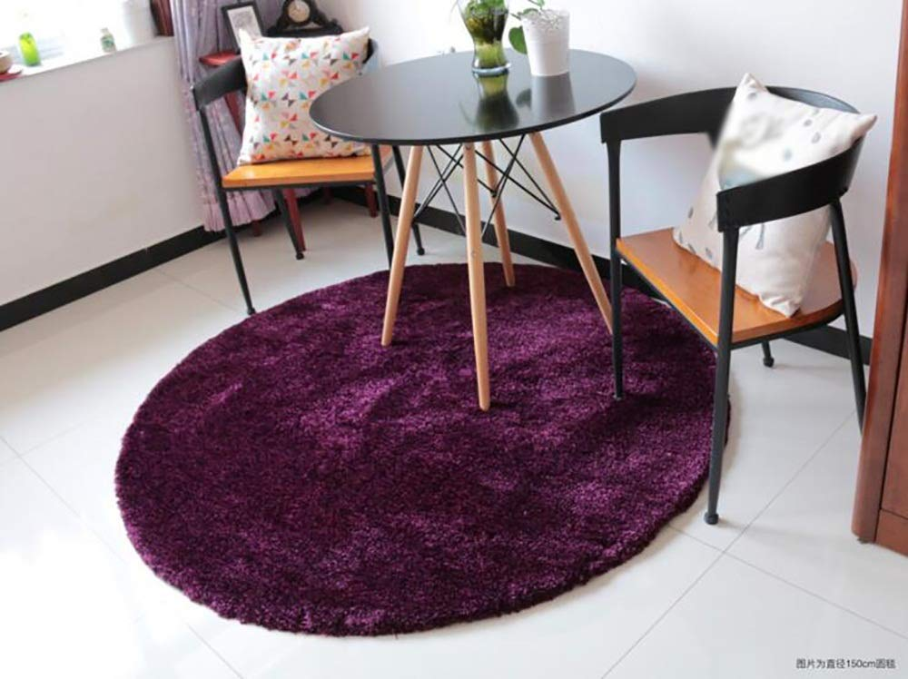 MLMH Nordic Nordic Nordic Wohnzimmer Teppich runden Teppich Sofa Couchtisch Schlafzimmer Bettdecke super weichem Plüsch Teppich (Farbe   Deep lila, größe   120cm) B07GRLV1S7 Teppiche 2678dc