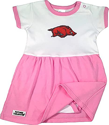 26f952d5b Future Tailgater Arkansas Razorbacks Baby Onesie Dress - Pink (3-6 Months)