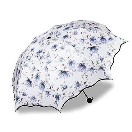 GAOLILI Paraguas Creativo Mujer Dupla Doble Negro Caucho Diosa Super Sombra Luz Protector solar UV