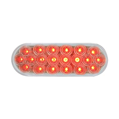 Grand General 87729 Red Oval Fleet 20-LED Stop/Turn/Tail Sealed Light with Clear Lens: Automotive