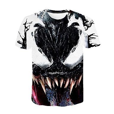 Stampa 3D Venom Maglietta per Donna Uomo,Casual Venom T-Shirt Maniche Corte Estate Camicia Bluse Top Elegante Tee per Bambino e Ragazzo